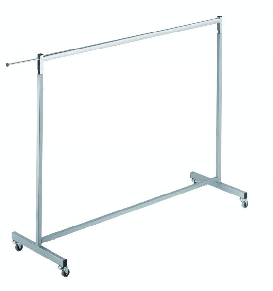 Vierkant-Rollständer L 120 cm silbergrau