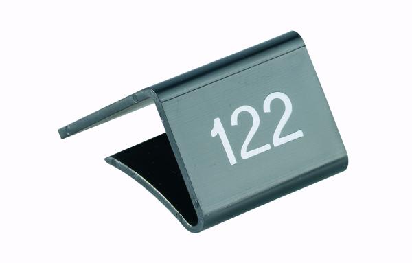 Fachbodenauszeichnung Stärke 11-20mm, schwarz mit Aufdruck