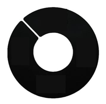 Ringscheibe ohne Rand, neutral schwarz
