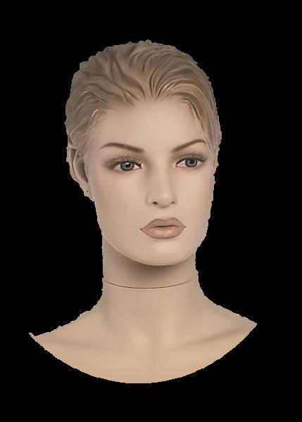 Damenkopf mit skulpturiertem Haar,hautfarben