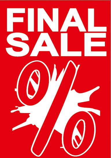 """A1 Poster """"FINALSALE"""" für Plakat-rahmen -Ständer"""