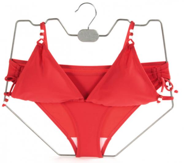 Drahtformbügel aus Draht für Bikinis alufarben