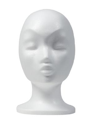 Damenkopf Styropor, weiss