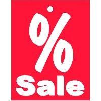 """Aktionsetiketten """"% Sale"""" rot"""