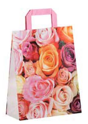 "Papiertragetasche ""Rose"" 22+10x28 cm"