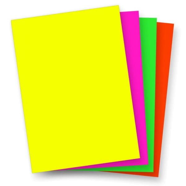 Plakatkarton 48 x 68 cm Neonfarbe einseitig