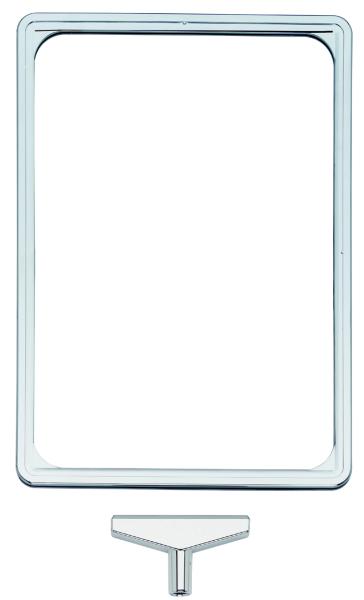 Plakatrahmenoberteil DIN A4,verchromt oder silberfarben