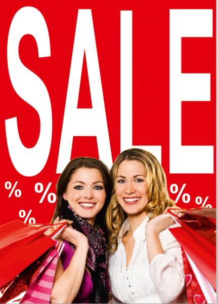 """A1 Poster """"SALE %%"""" für Plakat-rahmen -Ständer"""