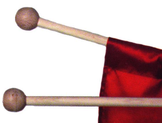 Rundstäbe, 2er Set für Fahnen
