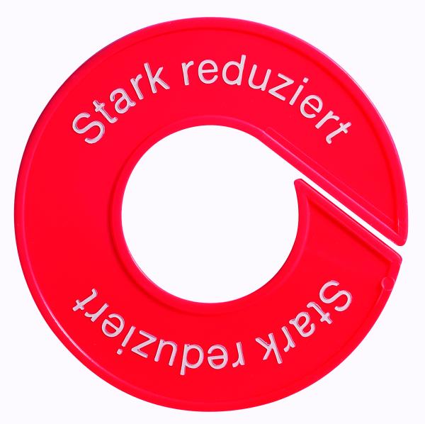 Ringscheibe -Stark reduziert-, mit Rand,rot