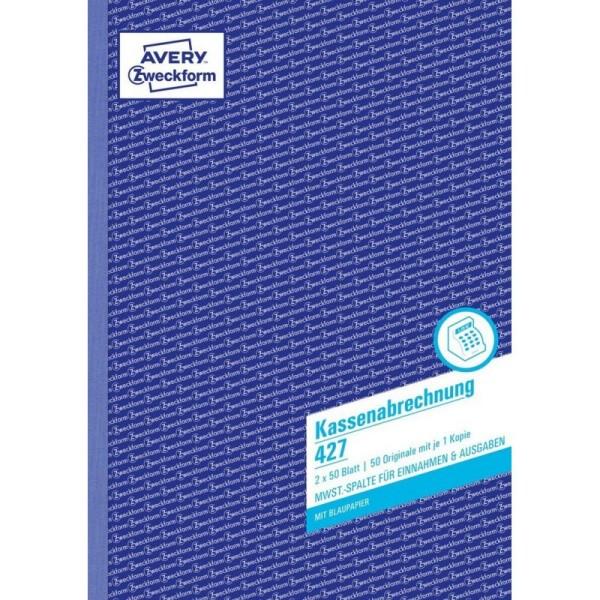Zweckform-Formular Kassenabrechnung 427 2x50Blatt