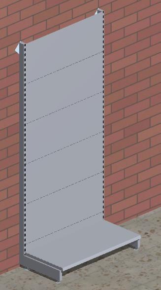 Grund-Wandregal mit glatten Rückwänden H 220