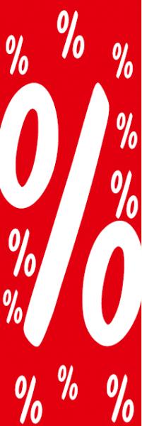 "Plakat/Banner ""%"" 138x48 cm"