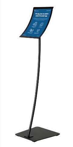 Infoständer geschwungen schwarz, höhenverstellbar DIN Formate