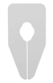 Größentrenner neutral für Oval und Rundrohre weiss