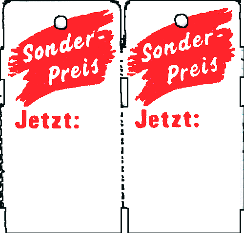 "Rollenetiketten ""Sonderpreis- jetzt"" 58x30mm"