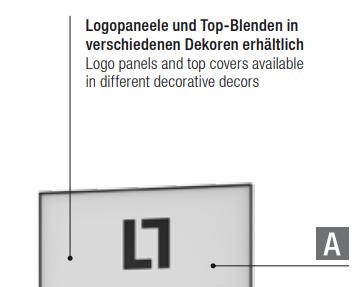Top-Paneel für LL-WALL WLL 7/ WLL 9