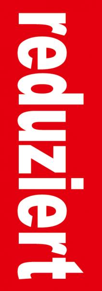 "Plakat/Banner ""reduziert"" 119x42 cm"
