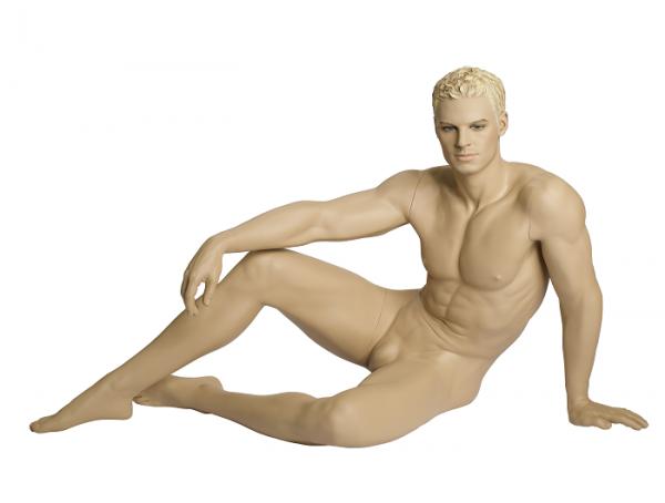Herrenfigur James, skulpt.Haar, teint