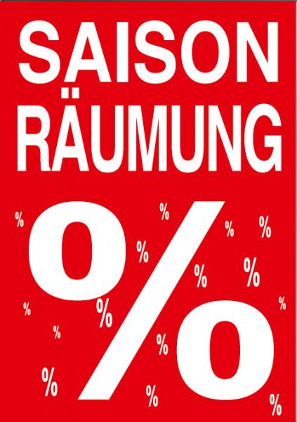 """A1 Poster """"Saison Räumung"""" für Plakat-rahmen -Ständer"""