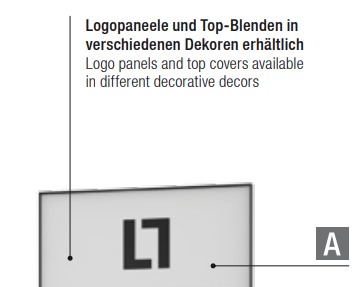 Top-Paneel TP für WLL-T 9 für LL WALL BLISTER