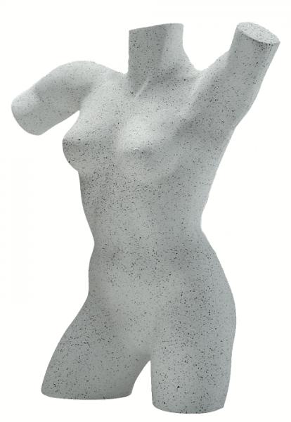 Styroportorso Dame ausgestellte Form