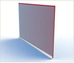 Scannerschiene transparent klebbar, 100 cm