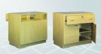 Verkaufstheke m. Glasschubfach und Türen