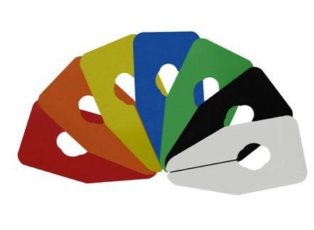 Größentrenner neutral für Oval und Rundrohre farbig