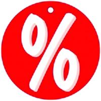 """Aktionsetiketten """"Prozentzeichen"""" rot"""