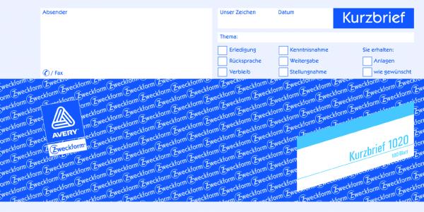 Zweckform-Formular Kurzbrief 1/3A4 100Blatt
