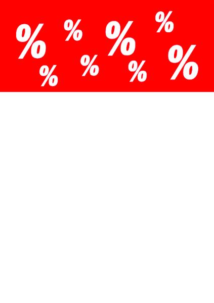Plakat %, DIN A4, 10 Stck
