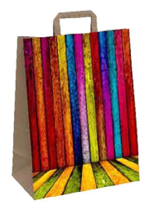 """Papiertragetasche """"Farbenspiel"""" 26+12x35 cm"""