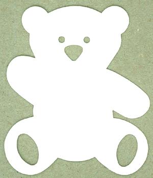 """Etiketten """"Bär"""" weiß gestanzt, 50St"""
