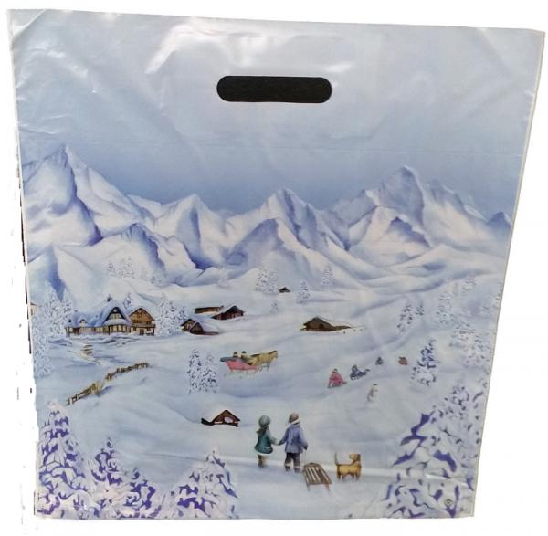 Tragetasche Winterlandschaft 38 x 45 cm