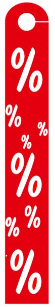 Hänger % % % Hart-PVC doppelseitig ,,