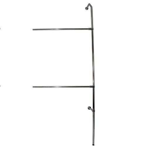 Anbau Wand-Rohrregal mit 2 Konfektionsstangen