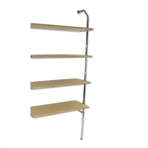 Anbau Wand-Rohrregal mit 4 Fachböden
