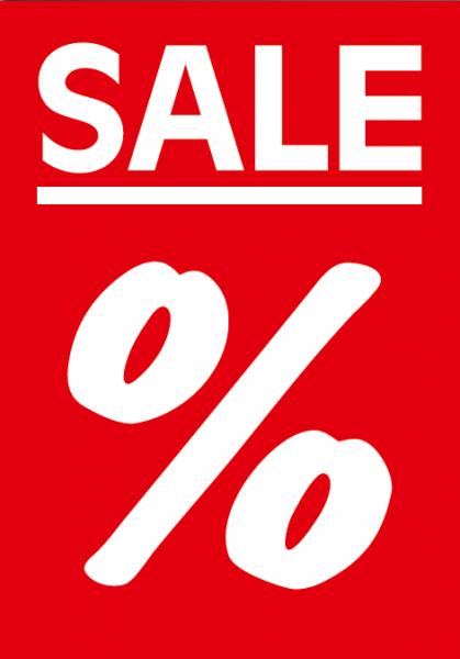 """A1 Poster """"SALE %"""" für Plakat-rahmen -Ständer"""