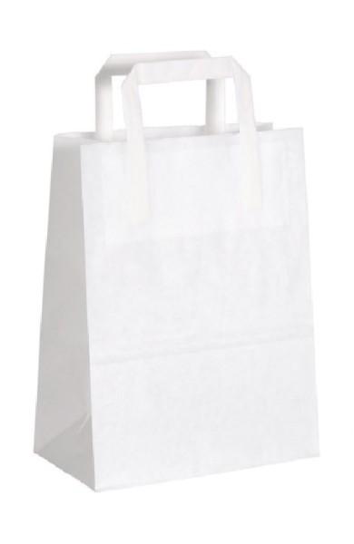 Papiertragetasche weiß 50 Stück
