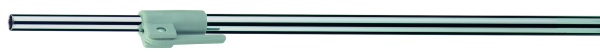 Teleskoprohr chrom 12mm für Plakatrahmen
