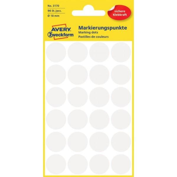 Markierungspunkte/Klebeetiketten 18mm, 96 St