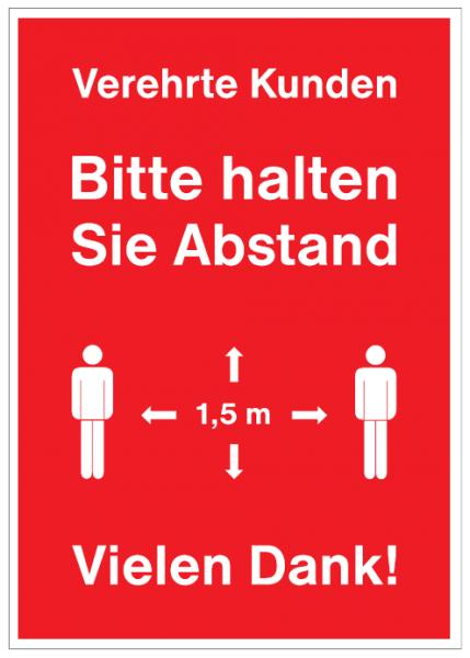 A1 Plakat -Bitte halten Sie Abstand-