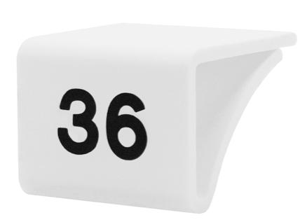 Fachbodenauszeichnung Stärke 3-10mm, weiß mit Aufdruck