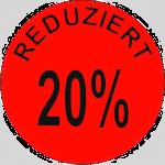 """Klebeetiketten Rolle 1000St """"Reduziert 20%"""",30%.. D 32mm"""