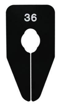 Größentrenner nummeriert für Oval und Rundrohre schwarz
