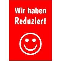 """A1 Poster """"Wir haben Reduziert"""" für Plakat-rahmen -Ständer"""