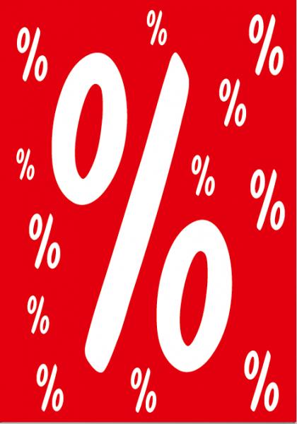 """A1 Poster """"% % %"""" für Plakat-rahmen -Ständer"""