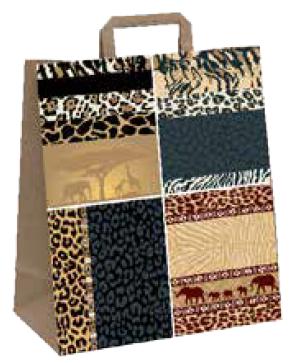 """Papiertragetasche """"Afrika"""" 22+10x28 cm"""