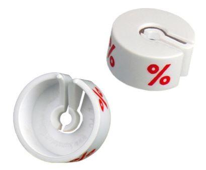 Marketingreiter weiß-..%- Beutel je 25 Stck.